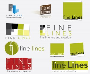 Fine Lines Painting Company Branding